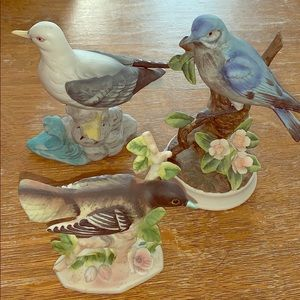 🍭VINTAGE VARIOUS PORCELAIN HAND PAINTED BIRDS